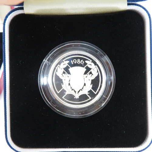 50 - Royal Mint UK silver proof £200 1995 UN 1996 Games 1995 WWII 1996 Football and 1997 in original case...
