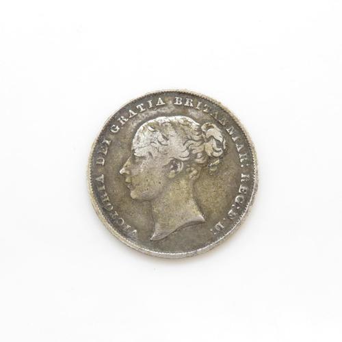 8 - Rare 1850 shilling in fine condition