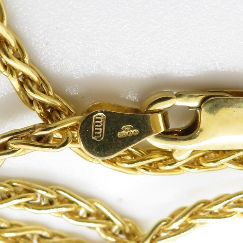 18 - 9ct gold necklace 8.1g