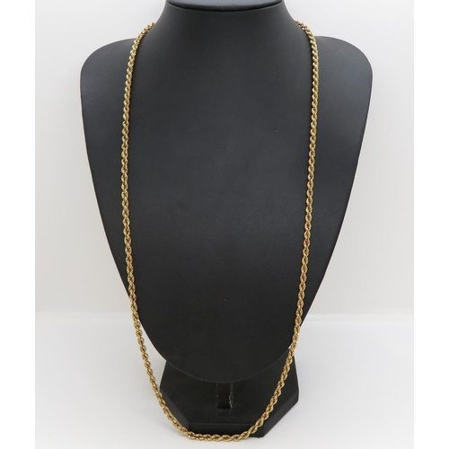 19 - 9ct gold necklace 19g