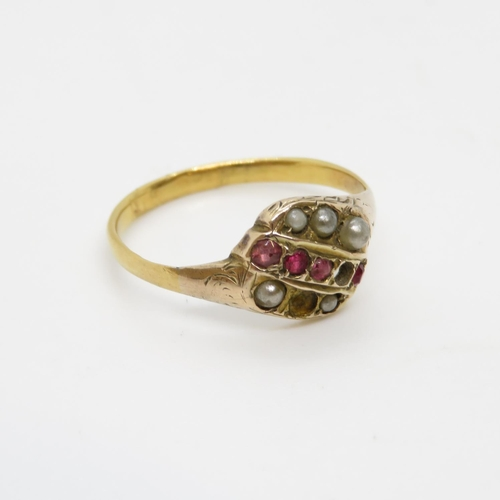 2 - 18ct ring antique 1.7g size L