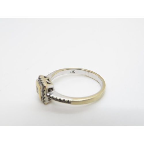 24 - Antique 18ct and diamond ring 3.7g size O