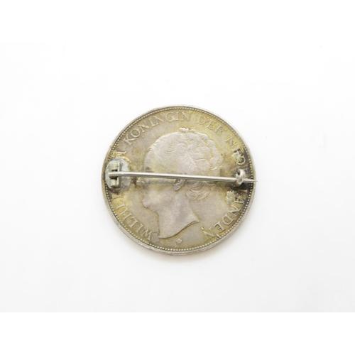 37 - 1929 silver coin brooch
