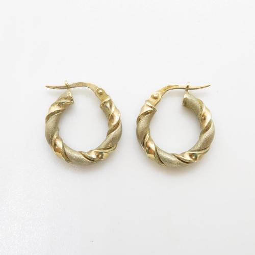 41 - Hoop earrings 9ct gold 1.3g
