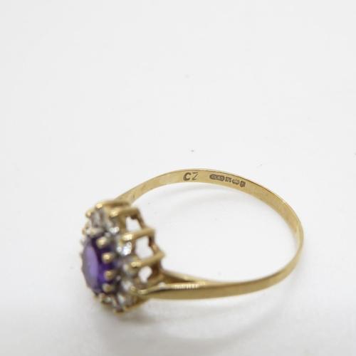 42 - 9ct gold ladies ring 1.8g size R
