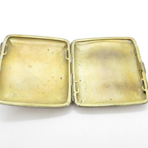 44 - HM silver cigarette case 80g
