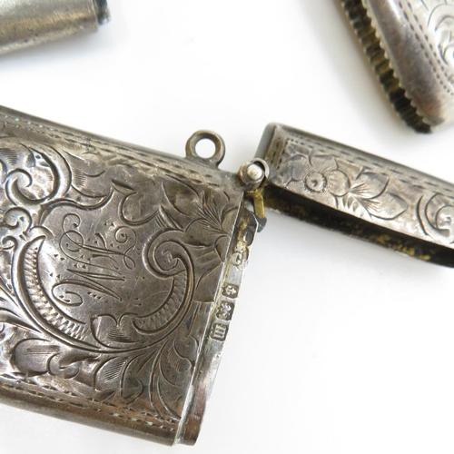 46 - Set of 3x silver vestas 63g total