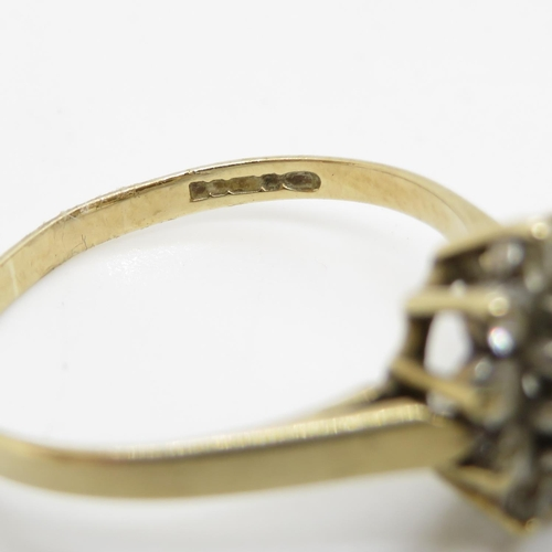 5 - 9ct ring with stones 1.7g size N