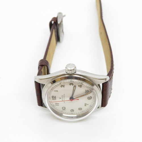 51 - Original Rolex Oyster Royal wristwatch automatic movement Rolex winder Red second hand  Backplate en...