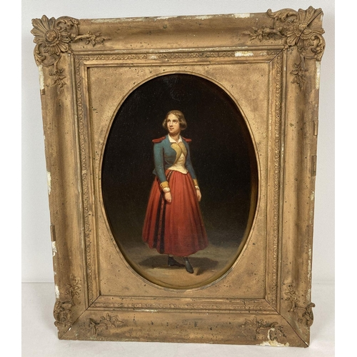 1360 - An antique oil on canvas of Jenny Lind playing the character of