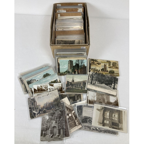 1169 - Ex Dealers Stock - approx. 300 assorted vintage British postcards. From Cams, Suffolk, London, Berks...