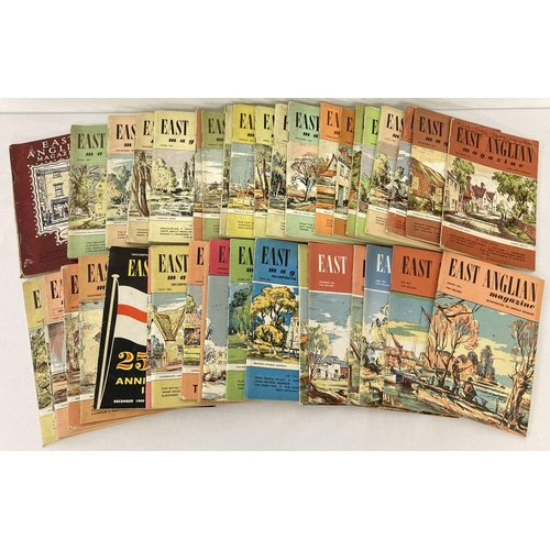 1127 - A collection of 40 issues of vintage East Anglian Magazine dating from 1950 to 1962. To include 100t...