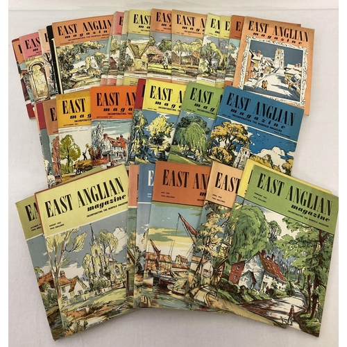 1128 - A collection of 34 issues of vintage East Anglian Magazine to include complete year sets. Comprising...