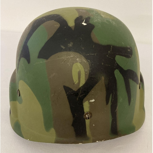 1037 - US prototype Personnel Armor System Ground Troops (PASGT) helmet, believed to be made from GRP. Helm...