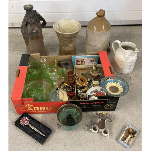 1287 - A collection of assorted ceramics and various misc. items. To include: Wade Whimsies, part uranium g...