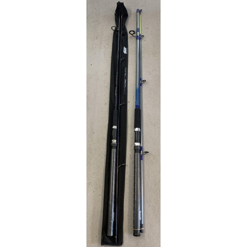 1239 - A brand new Ron Thompson Dialex Sea Boat 270 9ft fishing rod with casting 100-250 grms. Together wit...