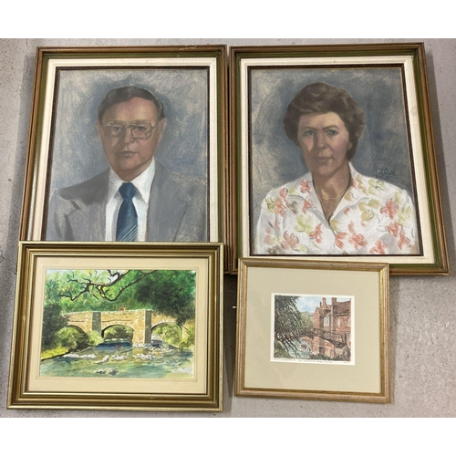 1401 - A collection of assorted pictures to include pastels, watercolour and print. All framed and glazed. ...
