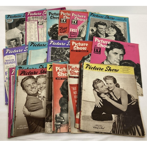 1190 - A collection of 35 x Picture Show & Film Pictorial  magazine, dating from the 1950's.