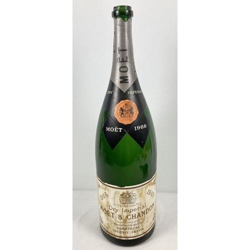 1198 - A vintage Methuselah bottle of 1966 Moet & Chandon champagne (empty).