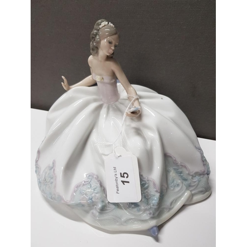 15 - LLADRO FIGURE 5859 AT THE BALL...