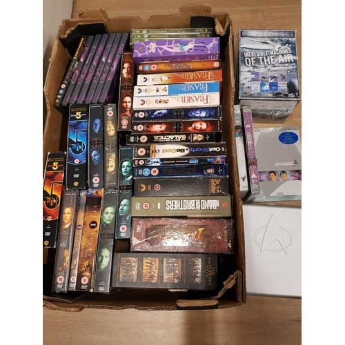 52 - SUBSTANTIAL AMOUNT OF DVD BOX SETS INCLUDES STAR TREK AND INDIANA JONES...