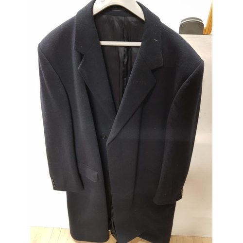 58 - GENTS WOOL AND CASHMERE OVERCOAT 112CM...