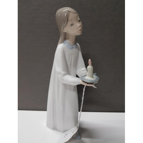 7 - LLADRO FIGURE 4868 GIRL WITH CANDLE...
