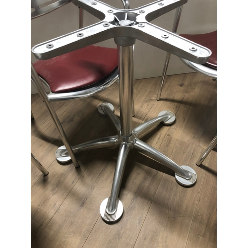 2 - SET OF 4 DESIGNER CHAIRS NAMED TOLEDO MADE OF CAST ALUMINIUM DESIGNED BY JORGE PENSI 1986 TO 1988 TO...