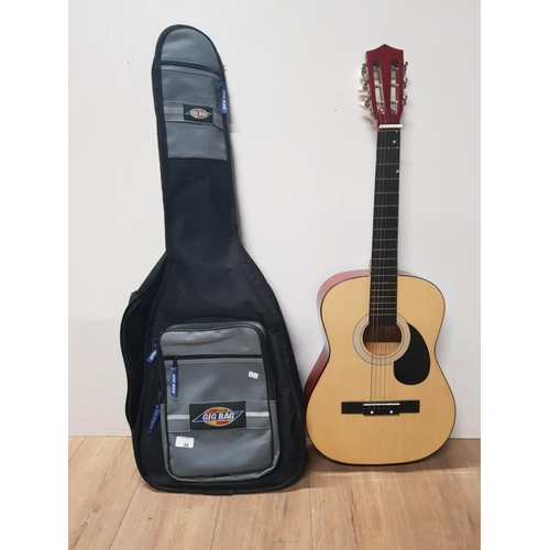30 - ACOUSTIC BURSWOOD GUITAR IN THE ORIGINAL GIG BAG...