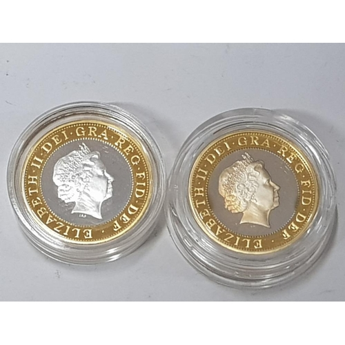 36 - TWO ROYAL MINT PROOF SILVER 2 POUND COINS, 1998 PIEDFORT SHOULDER OF GIANTS 10,000 MINTAGE B.UNC COA...