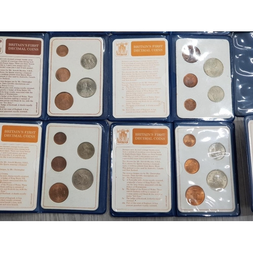 12 - 9 BRITISH 1971 FIRST DECIMAL COIN PACKS...