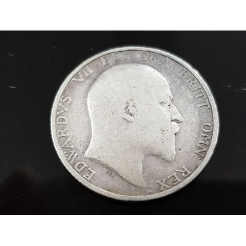 48 - EDWARD VII (1901-10) SHILLING COIN 1905 EDGE MILLED VERY SCARCE DATE WITH LOW MINTAGE
