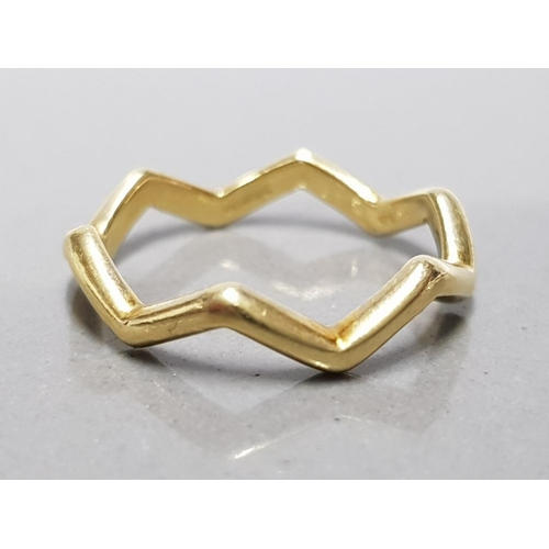16 - 18CT YELLOW GOLD TIFFANY AND CO PALOMA PICASSO ZIG ZAG RING SIZE M1/2 3.2G...