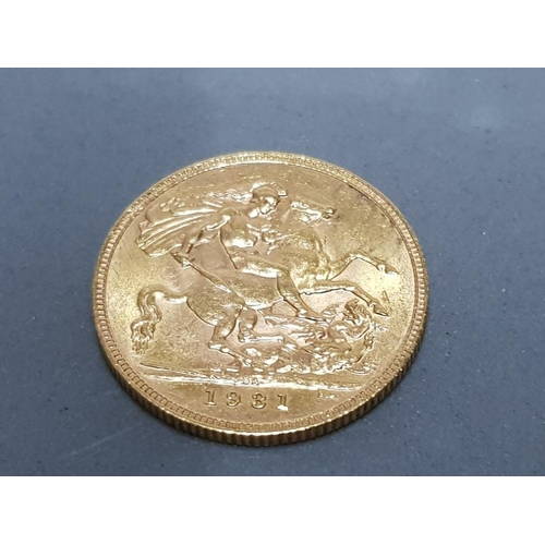 39 - 22CT GOLD 1931 FULL SOVEREIGN COIN...