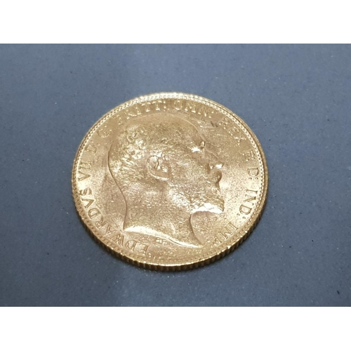 38 - 22CT GOLD 1910 FULL SOVEREIGN COIN...