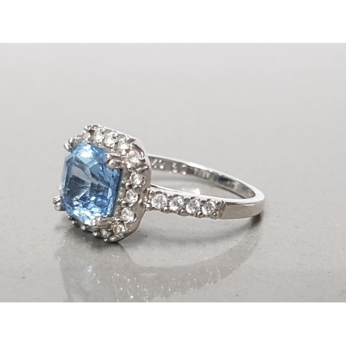 5 - 925 STERLING TOPAZ AND CZ CLUSTER RING N GROSS WEIGHT 3.3G...