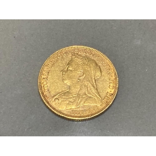 15 - 22CT GOLD 1895 FULL SOVEREIGN COIN