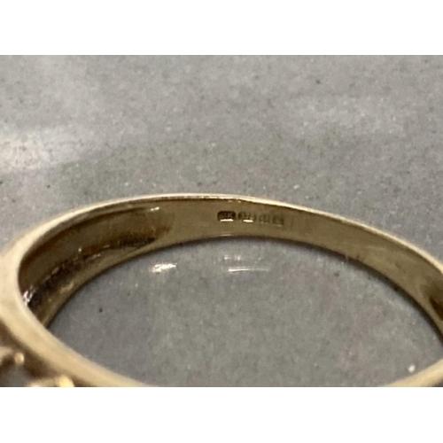 19 - 9CT YELLOW GOLD 3 ROW AURORA BOREALIS STONE TIMG SIZE N 3.2G GROSS