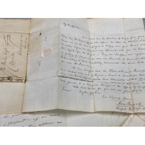50 - NAPOLEON ESCAPING FROM ST HELENA AFRICA DATED 29TH DECEMBER 1812 WITH ORIGINAL WAX SEAL ALSO WITH RE...