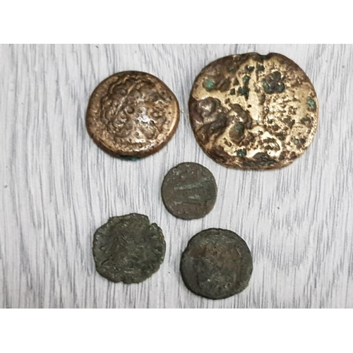 59 - 5 UNRESEARCHED ROMAN COINS