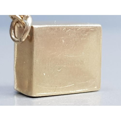 353 - 9CT YELLOW GOLD LOBOT NOTE CHARM 2.5G GROSS