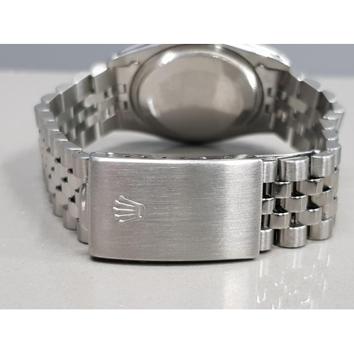 355 - ROLEX GENTS STAINLESS STEEL 1981 OYSTER PERPETUAL DATE SILVER DIAL BATON HOUR MARKERS JUBILEE BRACEL...