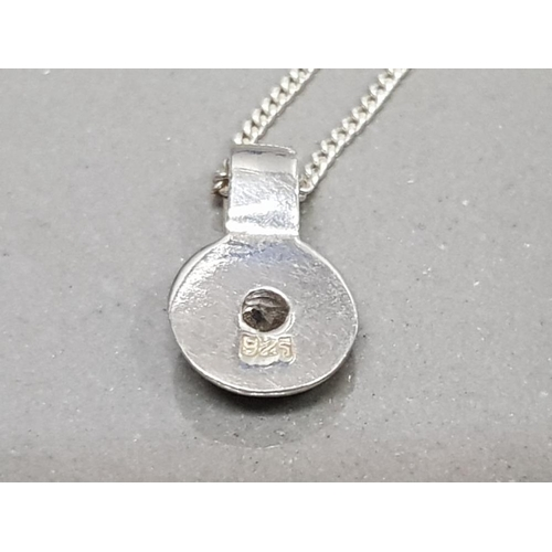 29 - SILVER AND CZ PENDANT ON CHAIN