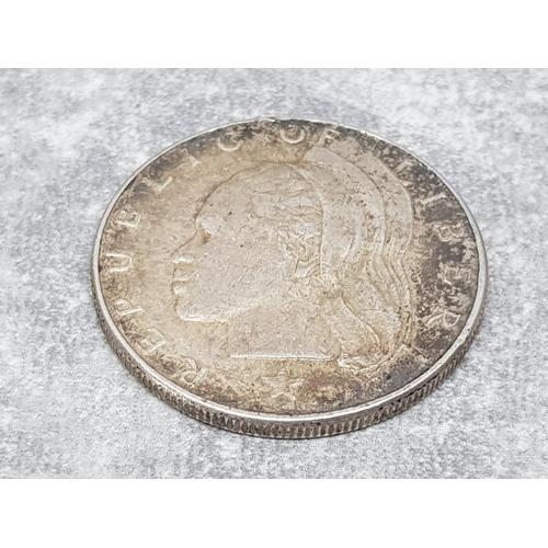 23 - Liberia 1962 one dollar silver coin 20.9g