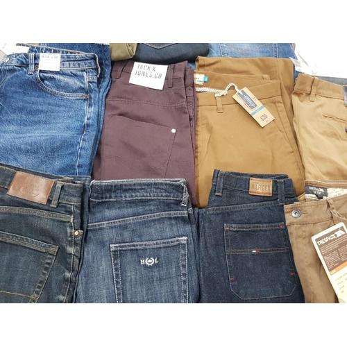 27 - 17 pairs of Jean's includes Tommy Hilfiger henry lloyd Jack Jones etc