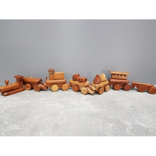 33 - Hardwood minature train and wagons