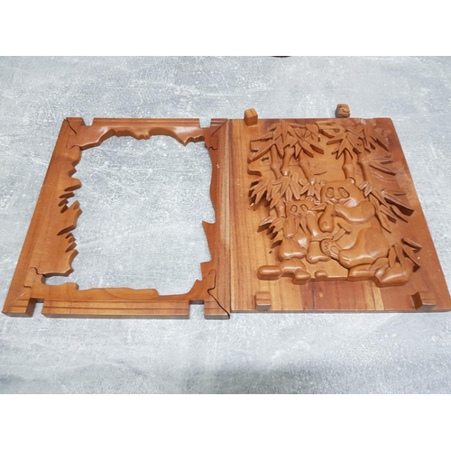 34 - Panda hardwood jigsaw stands as display when not in use