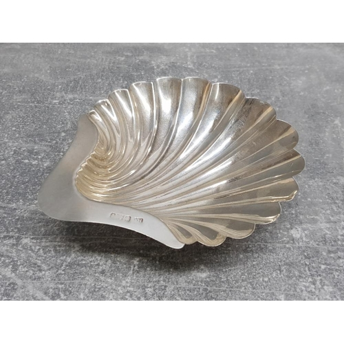 35 - Solid silver scallop shell butter or jam dish 88.9g