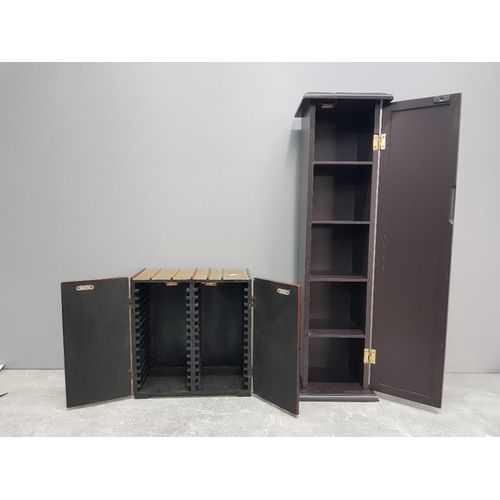 39 - 2 modern CD units with a library book design