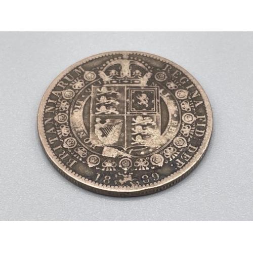 Coin silver victoria half crown 1889